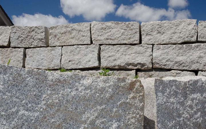 Granit-Mauersteine