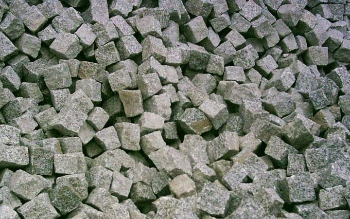 Graues Granitpflaster
