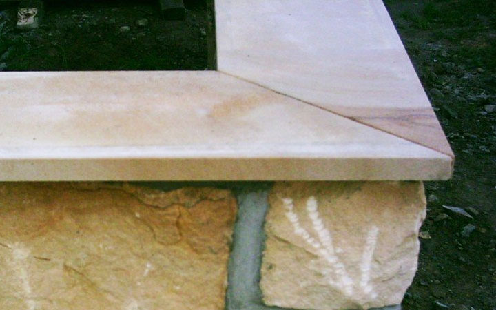 Sandstein-Abdeckung 3cm