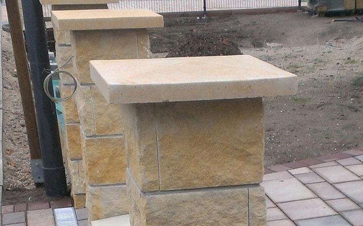 Sandstein-Abdeckung uni