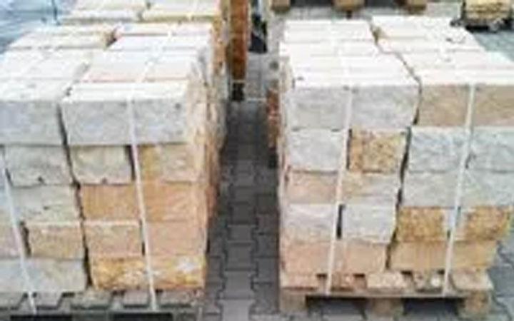Sandstein-Mauerstein 2-fach gesägt 15 x 20 x 40 cm