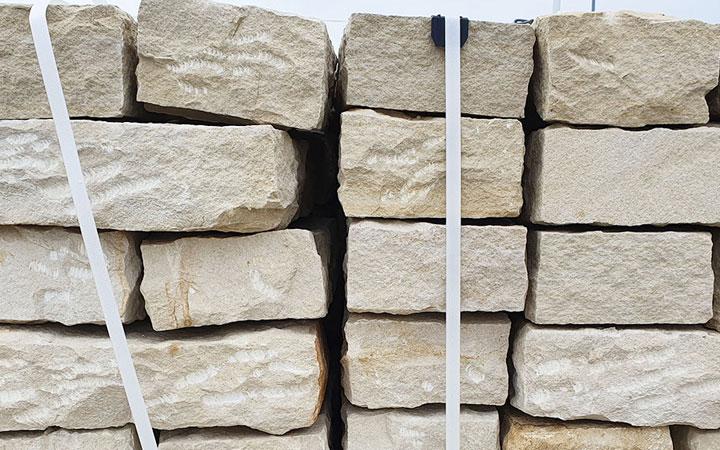 Sandstein-Mauerstein gespalten 10 x 20 x 40 cm