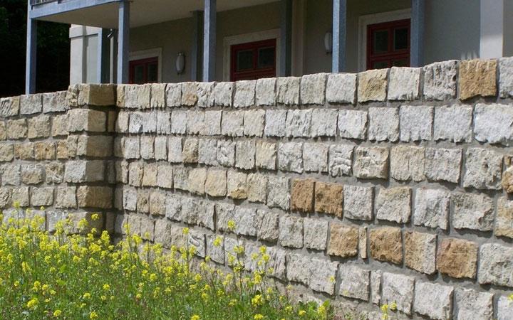 Sandstein-Mauerstein gespalten 20 x 20 x 40 cm