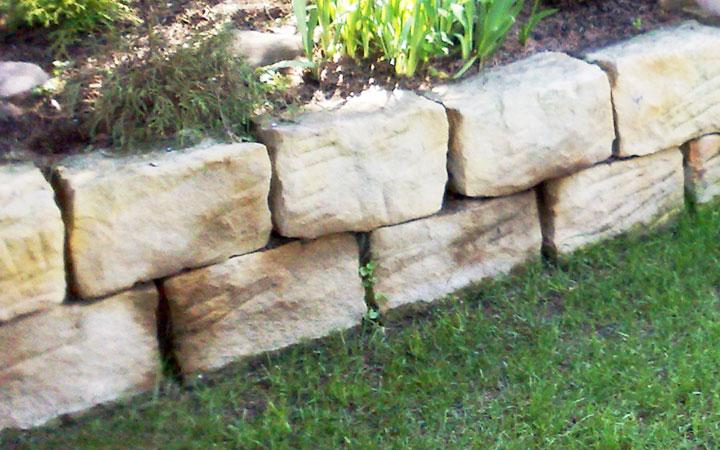 Sandstein-Mauerstein gespalten 25 x 25 x 40 cm