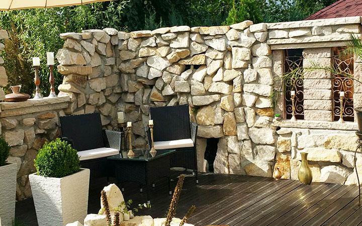 Sandstein Mauersteine unregelmäßig